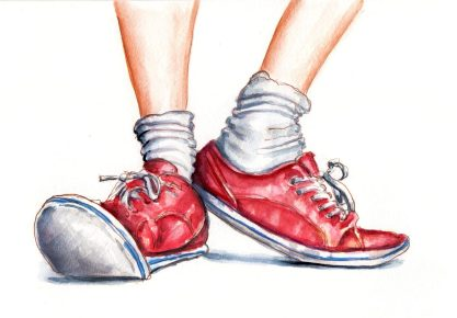 Day 19 - A Fresh Pair Of Socks - Red Sneakers