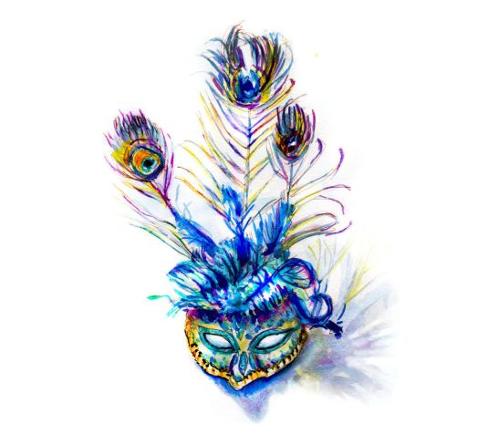 Day 23 - Going To The Theatre - Venetian Mask2
