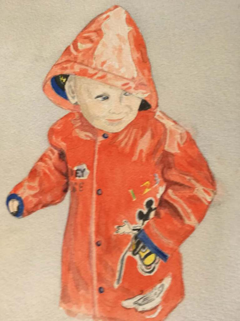This is Ciaran with his new raincoat IMG_0162