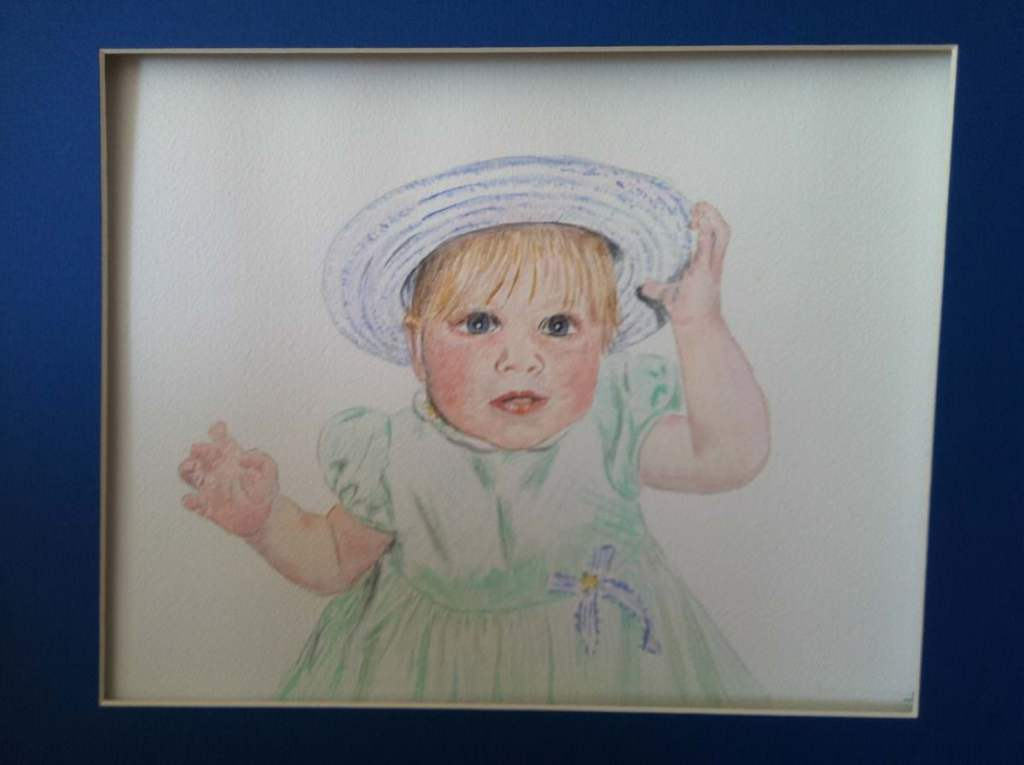 My granddaughter on Easter when she was about 2; she's now 14. Done on Arches with Windsor New