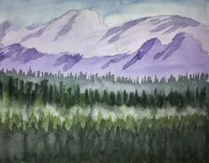 "Still testing Strathmore Aquarius II Paper – 8"" X 10"" Watercolor #worldwatercolorgroup #td"