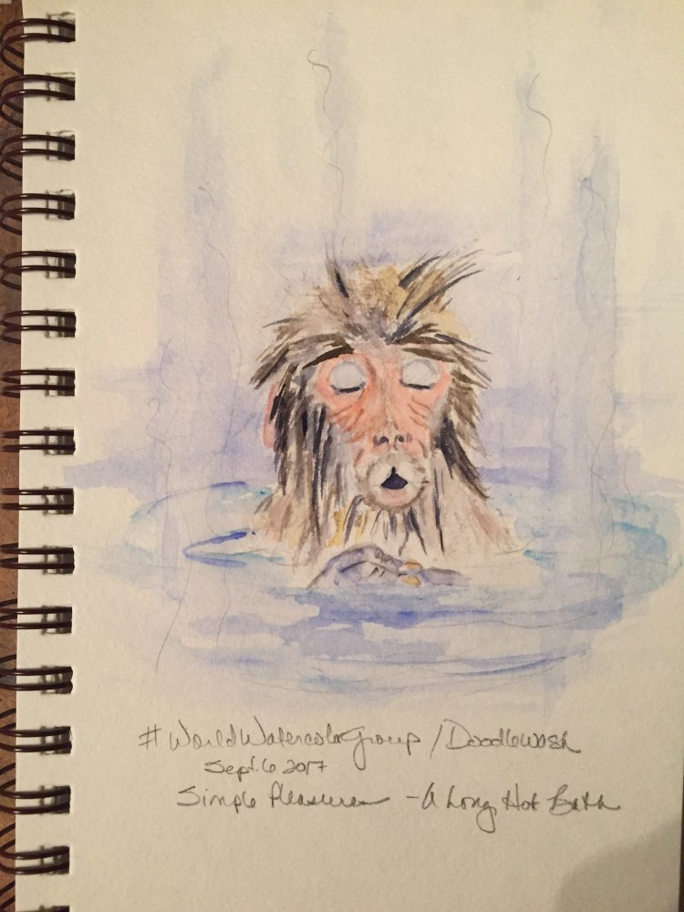 Today\'s prompt (Sept 6, long hot bath) I\'ve always loved the photos of snow monkeys in