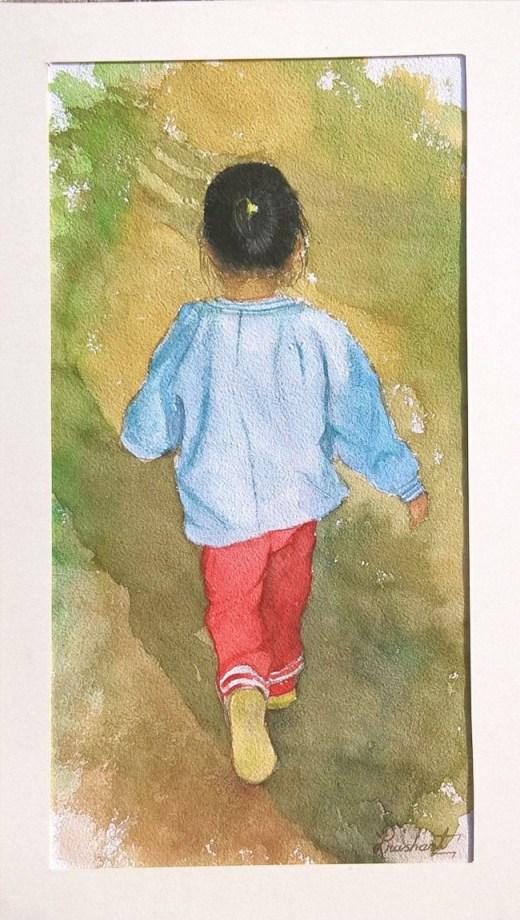 #WorldWatercolorGroup - Watercolor by Prashant Maru - Doodlewash
