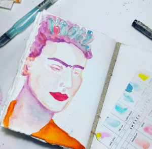 A colorful watercolor Frida! Screen Shot 2017-09-12 at 3.11.20 PM