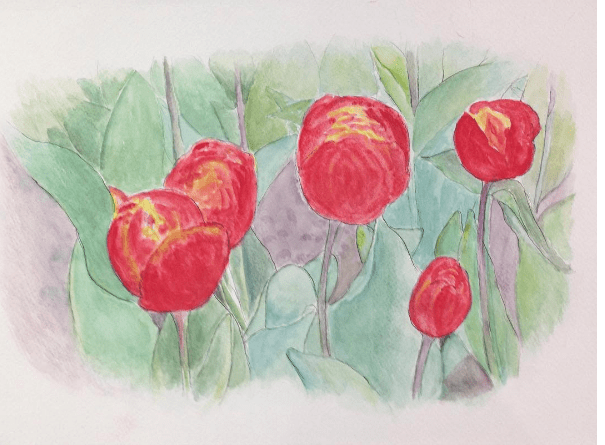 Tulips II || 10.5×15 in Screen Shot 2017-09-26 at 11.45.53 PM