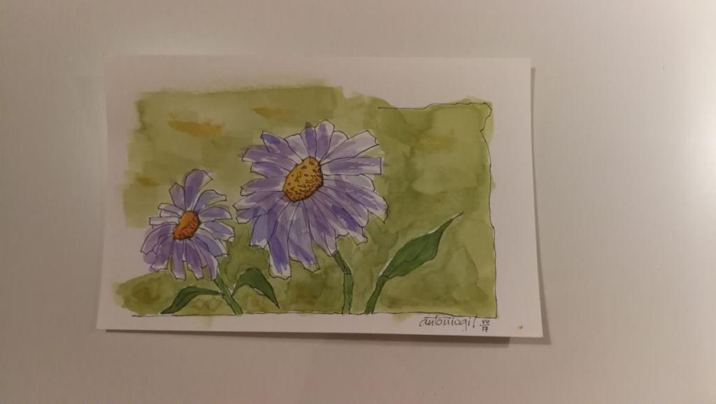 My copy of a beautiful watercolour of Peter Sheeler. flores