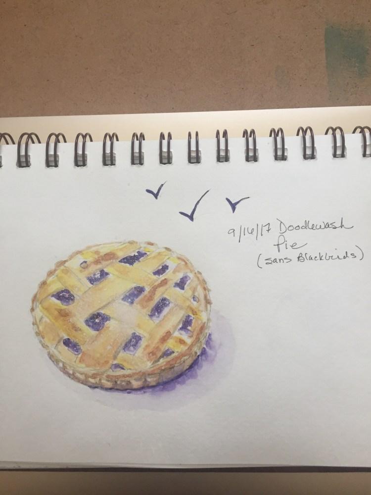 Four and twenty blackbirds flew from my pie! pie