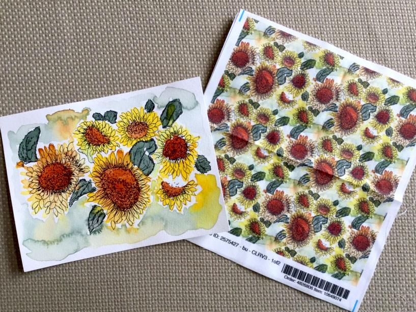 artwork fabric print pattern by Eileen McKenna