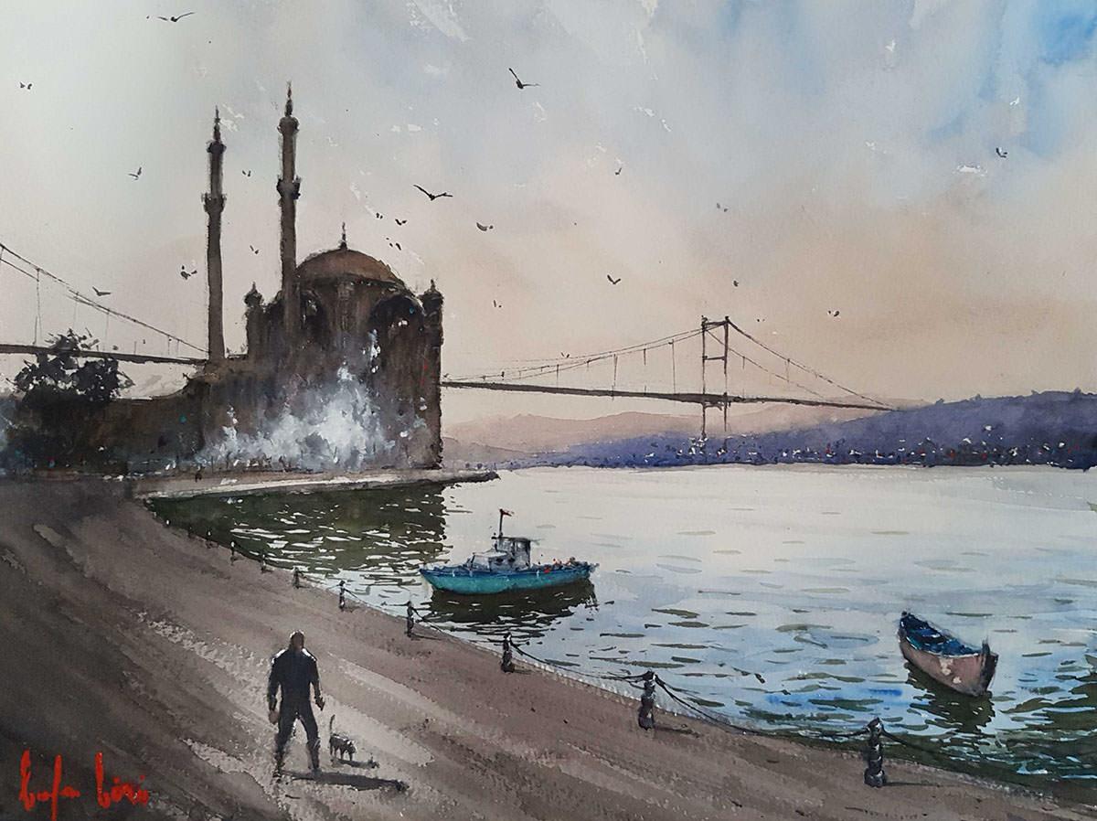 #WorldWatercolorGroup - Watercolour Painting by Baha Börü - Doodlewash
