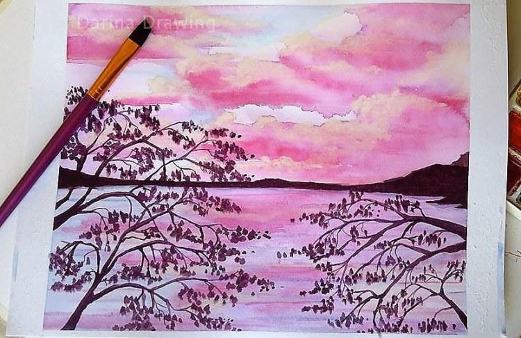 Pink clouds. Practicing. 22471545_10155798225084140_1008676135_n