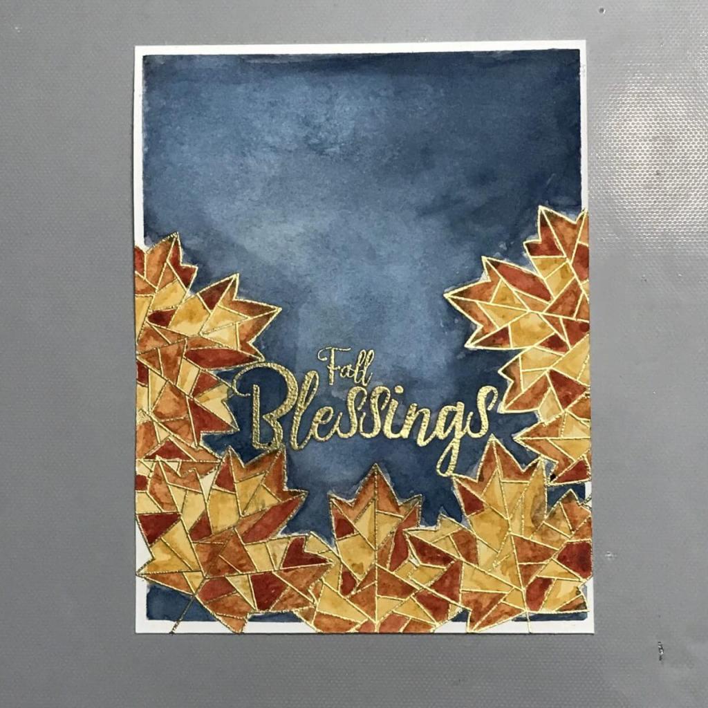 I love fall colors and the Daniel Smith watercolors made this fall card so beautiful! 53E0DA2D-AA4C-