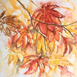 #WorldWatercolorGroup Autumn is here and it's always my favorite time of the year with all its