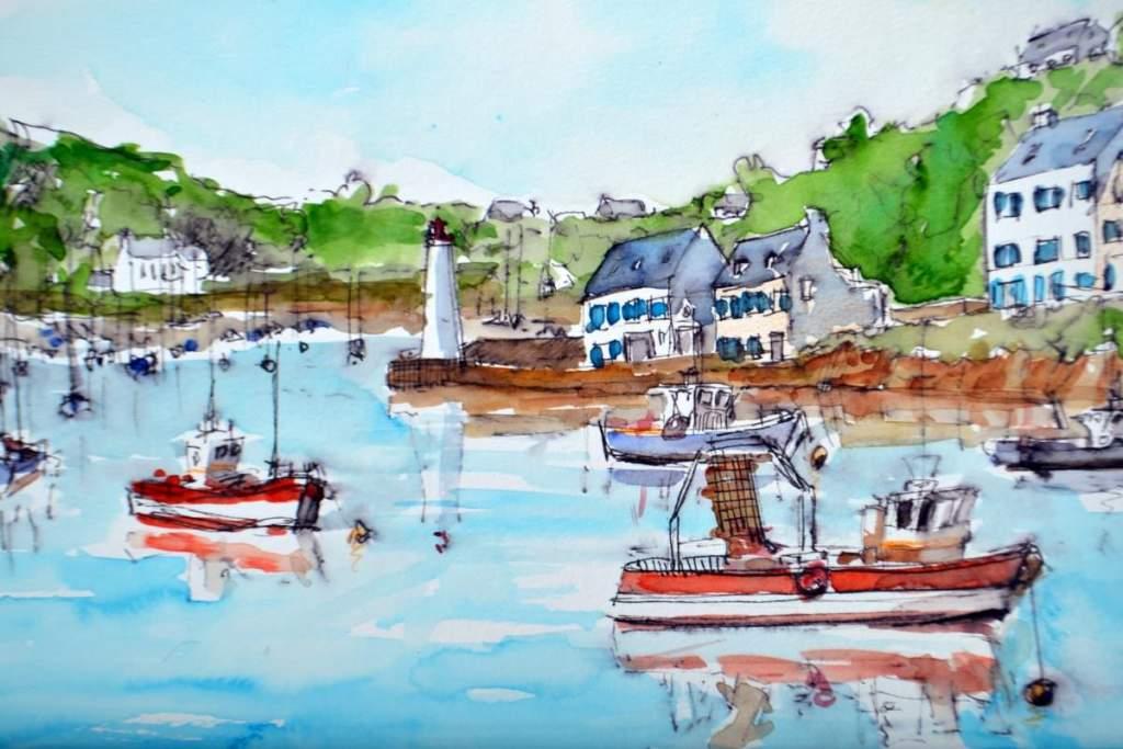 Bretagne, visit Ile de Groix, pen and watercolor 30×20 cm DSC_0085
