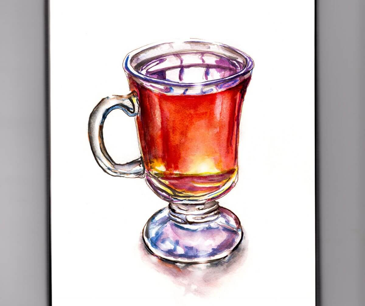 #WorldWatercolorGroup - Day 27 - A Mug Of Cider - Doodlewash
