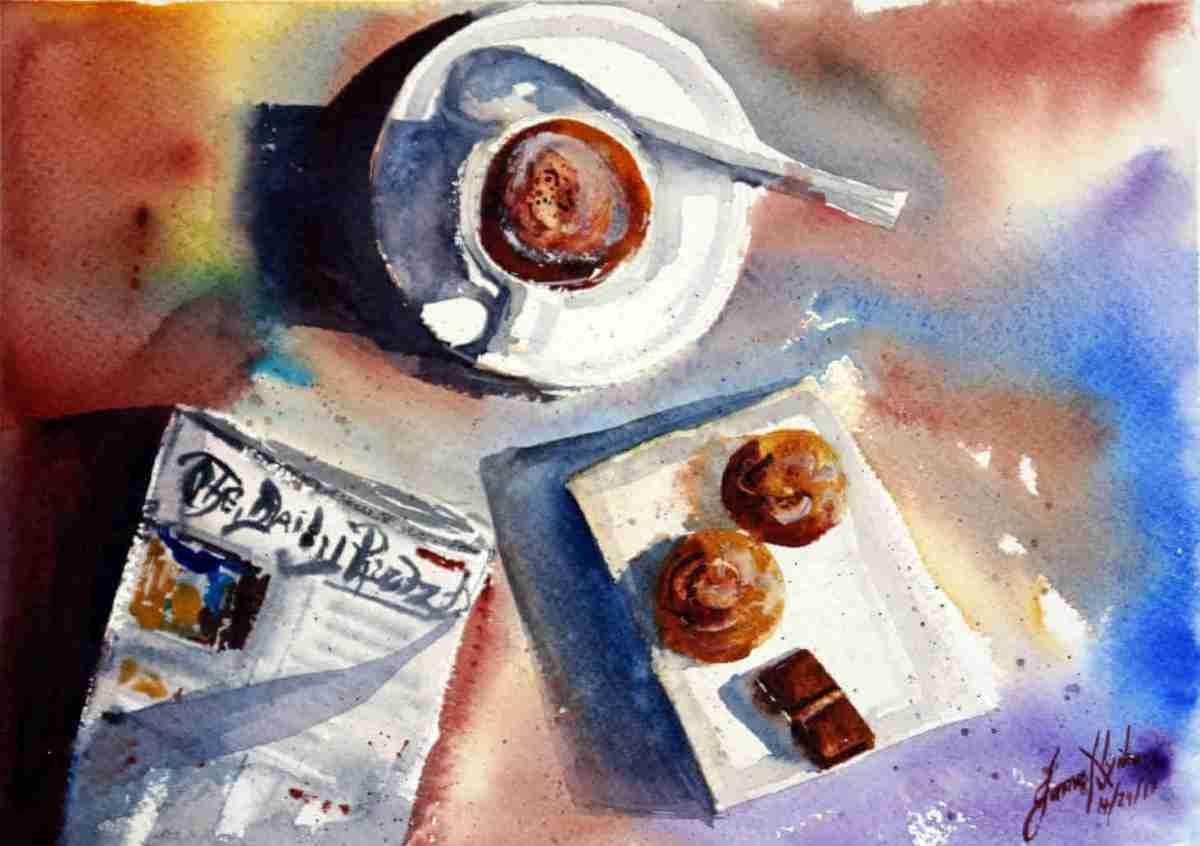 #WorldWatercolorGroup - Watercolor Painting by James Nyika - Doodlewash