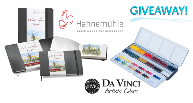 Hahnemühle & Da Vinci Watercolour Travel Set Share Image