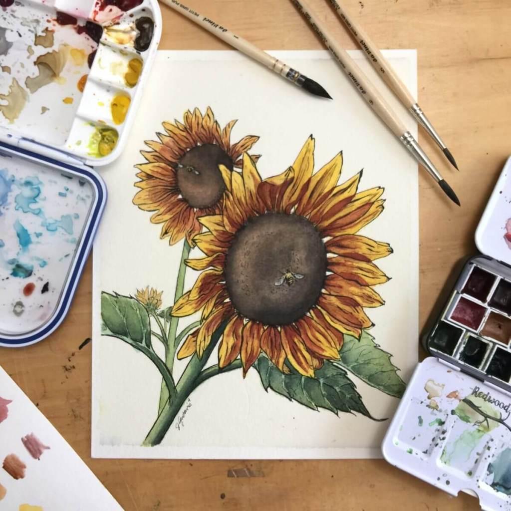 Sunflowers & Bees IMG_6565