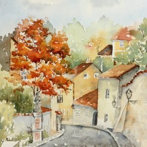 Prague Novo Svet – Original Watercolor