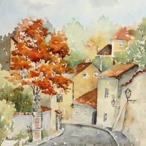 Prague Novo Svet – Original Watercolor