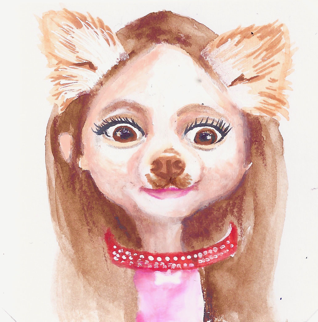 #WorldWatercolorGroup - Watercolor by Bree Smith - SnapChat Portrait - Doodlewash