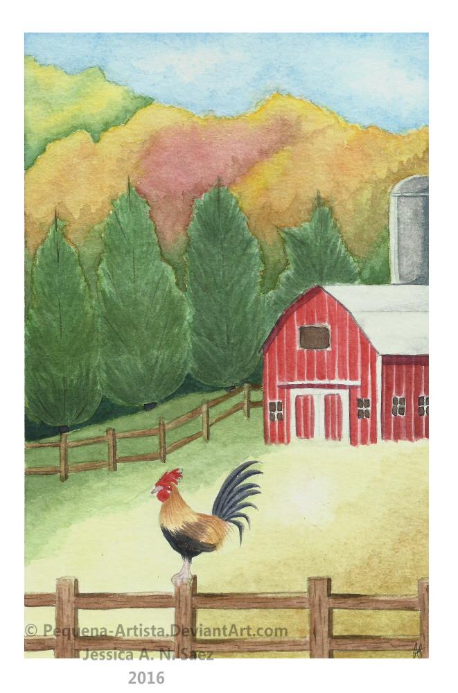Farm Scene RedBarn2