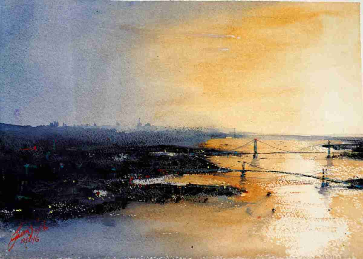 #WorldWatercolorGroup - Watercolor Painting by James Nyika - Doodlewash