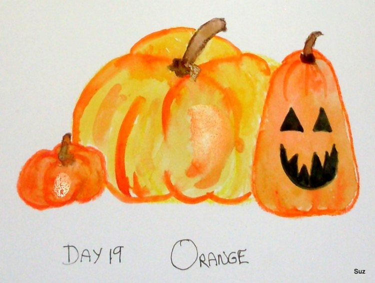 #WorldWatercolorGroup October Challenge Orange is the colour and autumn is the season, so…&#82