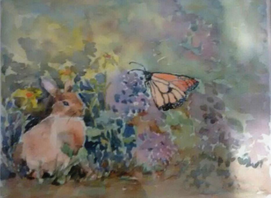 For my granddaughter … special request butterflyAndRabbitForRayla