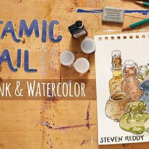 Dynamic Detail in Pen, Ink & Watercolor by Steven Reddy