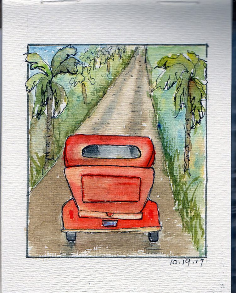 October 19 Orange So, to make a long story short…I saw an orange roadster in town one day and