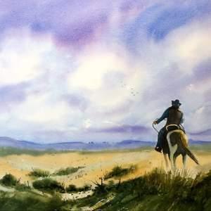 """Oklahoma Born & Raised"" – Original Watercolor"