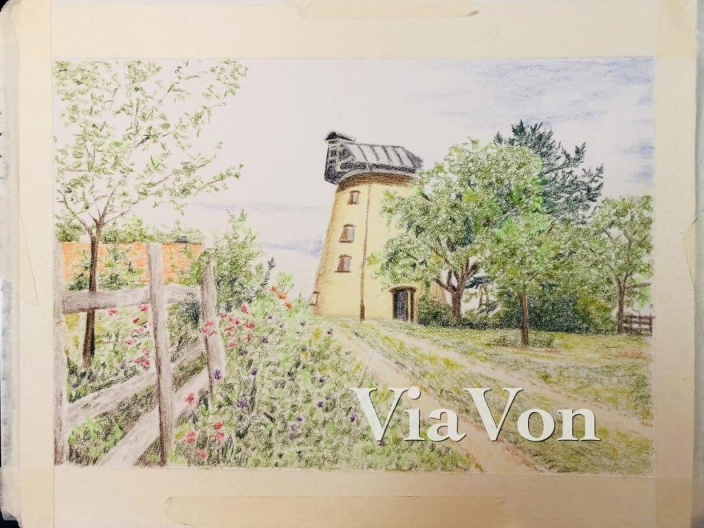 My current WIP: Albrecht Durers and Museum Aquarelles; on Clairefontaine Pastelmat 9×12; Photo