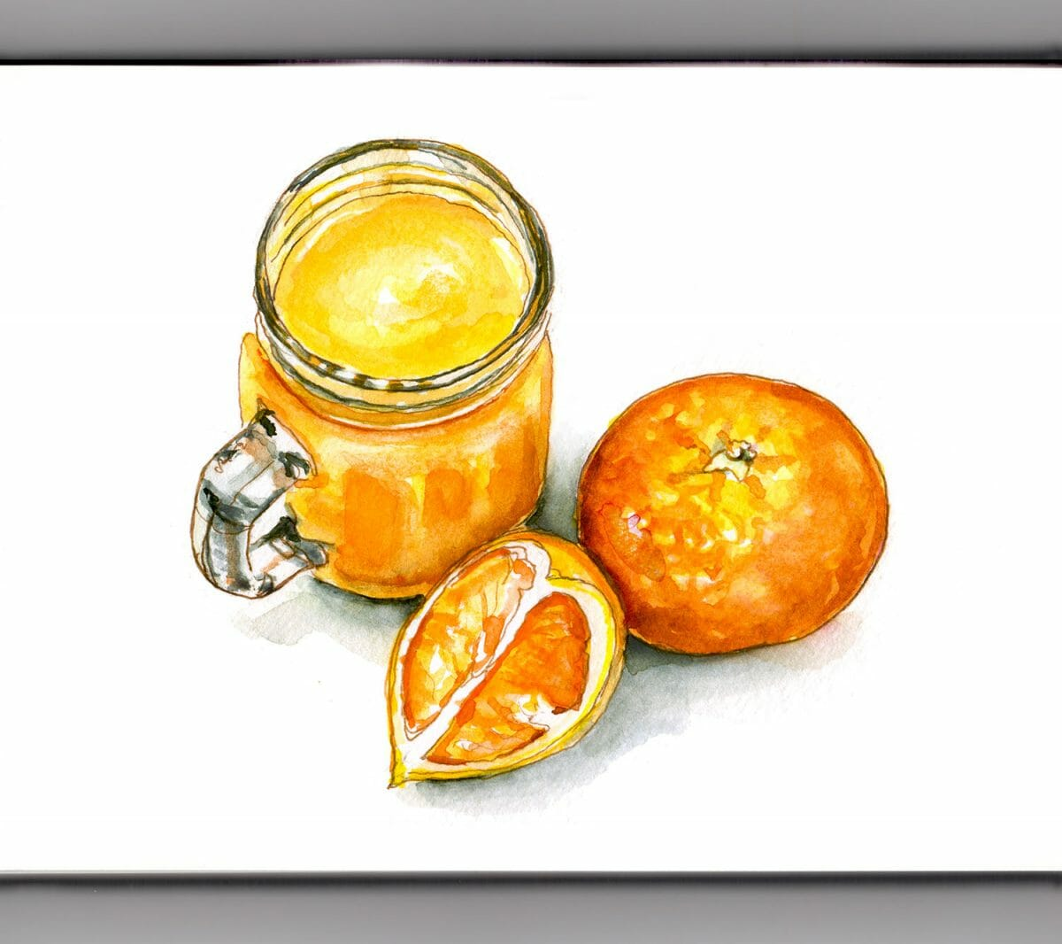 #WorldWatercolorGroup - Day 26 - Fresh Orange Juice - Doodlewash