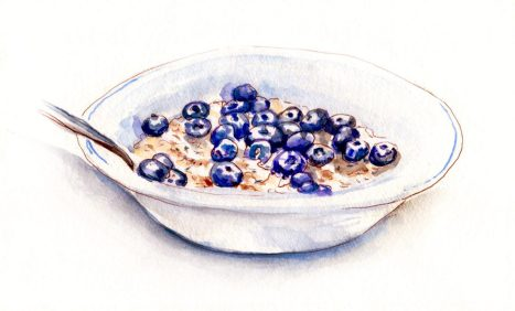 Day 6 - Oatmeal and Blueberries