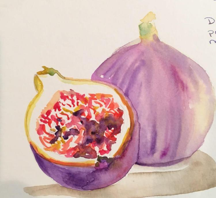 I am participating in the November Challenge. I hope I can keep it up. November 1 figs, they are fun