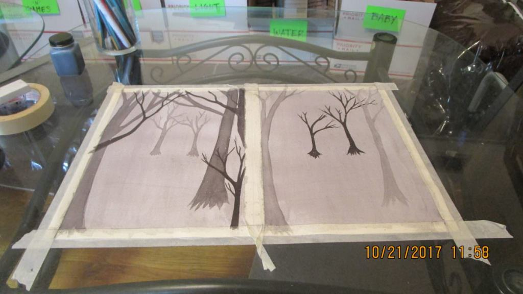 Technically, this is ink, but a 2 part w.i.p. . The goal is to produce 2 opposite views *(L) looking