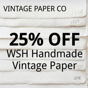 VINTAGE PAPER CO: 25% OFF WSH Handmade Paper