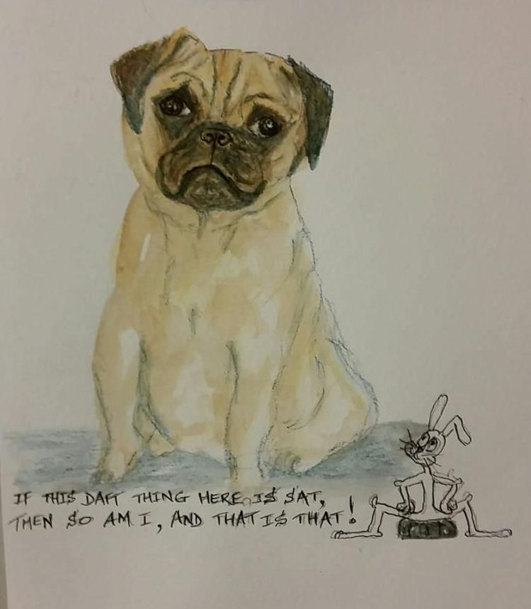 Last two lines of a poem I once knew when I was little… a pug