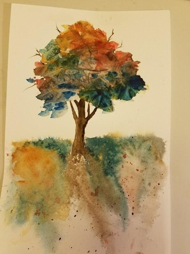 Keeping it simple single tree1Primative House