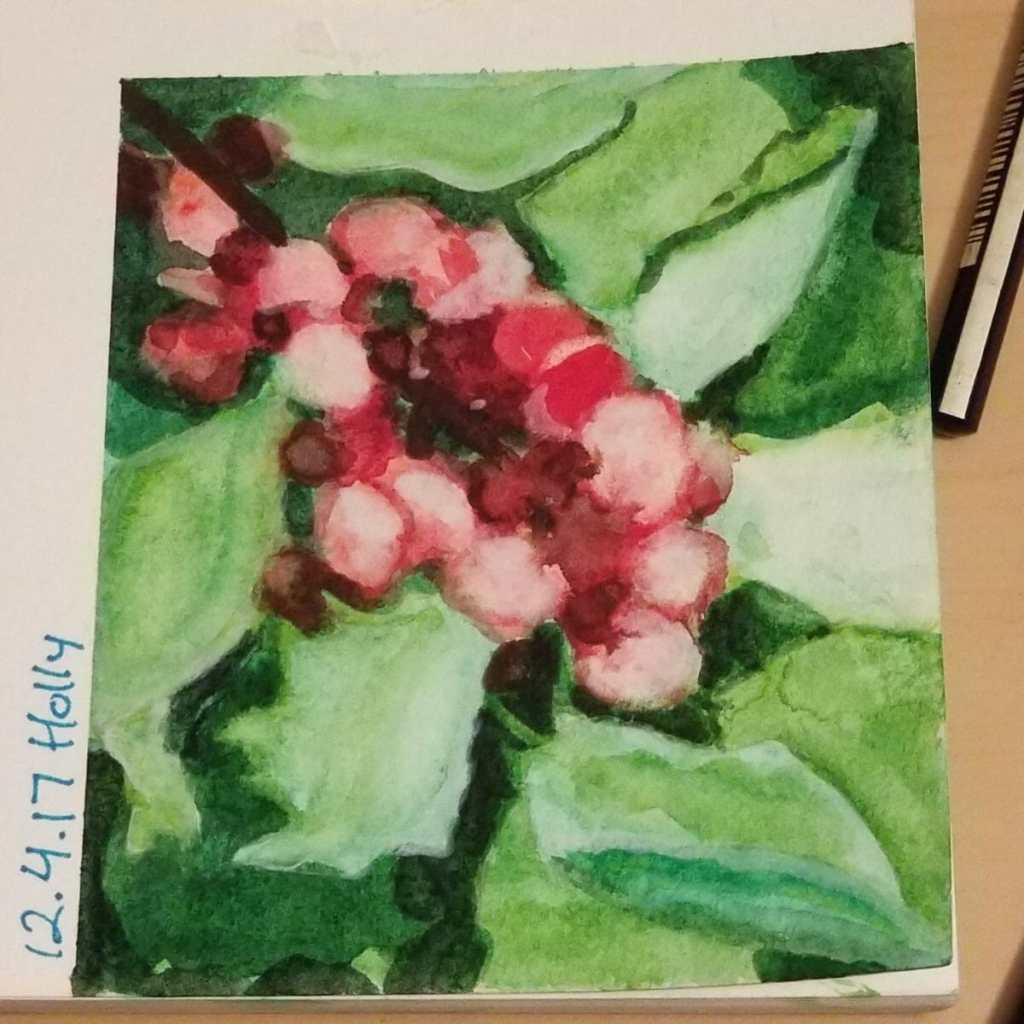 12.4.17 Holly My first attempt at painting the negative space 20171204_213043