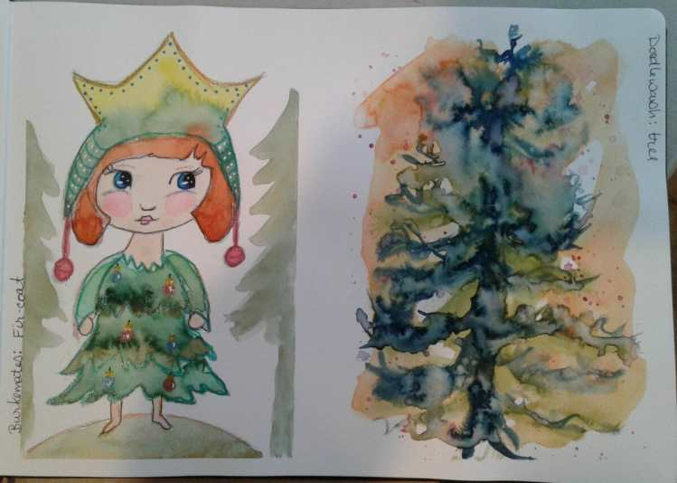 Day 157…tree and Fir-coat. Last night's theme was trees for both prompt list. Kind of fu