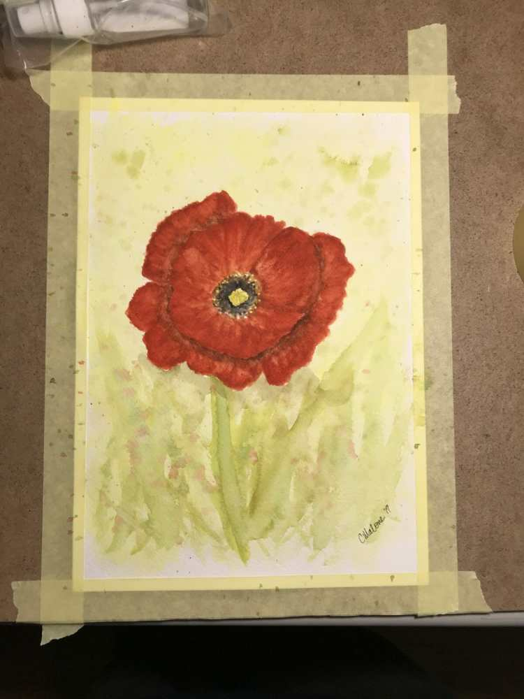 I finally had the chance to paint some today. A poppy. Things got a little out of control but I did
