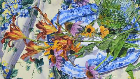 #WorldWatercolorGroup - Watercolor painting by Carmella Tuliszewski - Doodlewash