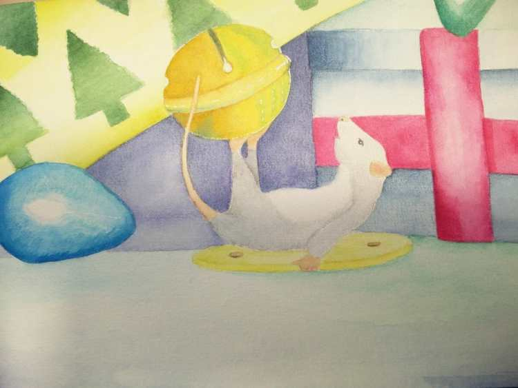 looks like wee mouse is up to no good with that bell. W&N pro Watercolour on 300gsm Bockingford