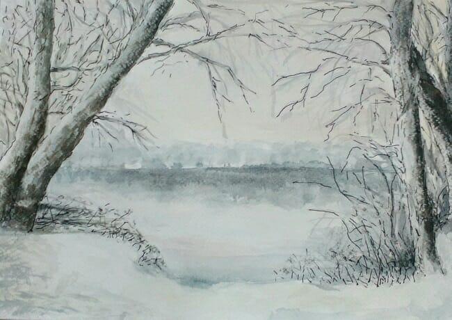 Winter in the Tisza Tél a Tiszán