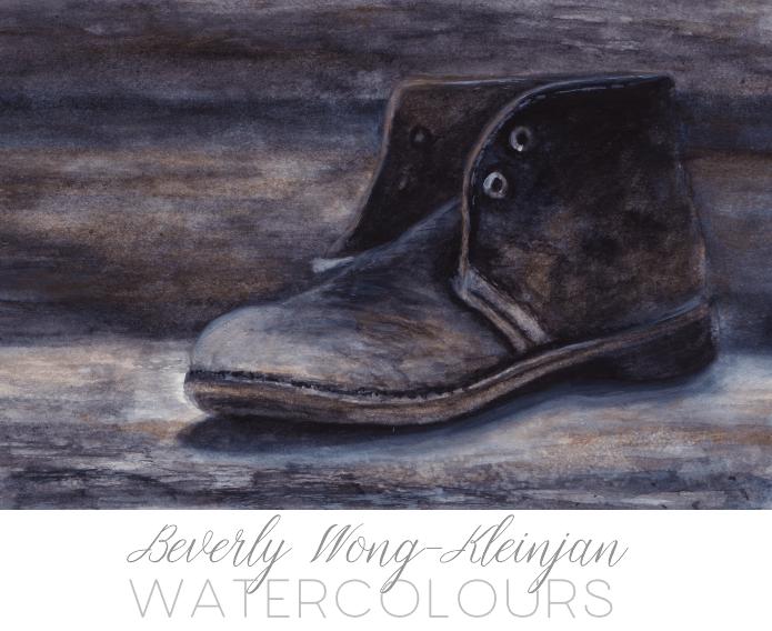 """old boot"" 9×6, watercolour in sketchbook (Stillman&Birn Alpha series) –"