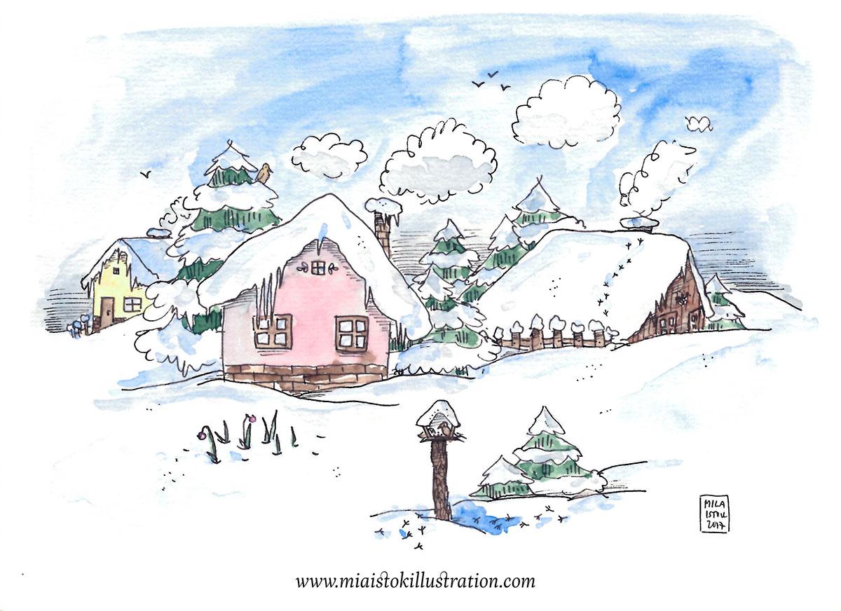 #WorldWatercolorGroup - Watercolor Illustration by Michaela Istok - Doodlewash