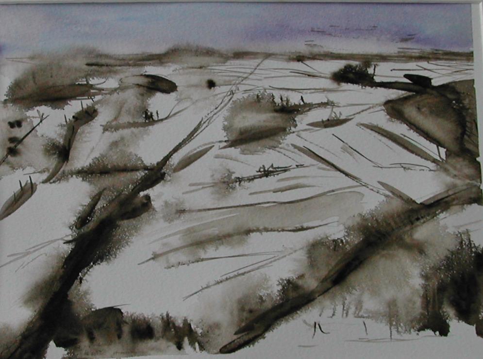 snowy landscape 13 Paysage enneigé