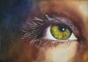 Study for watercolor master class. Project: take a pic of my eye and paint it! Loved the exercise. 2