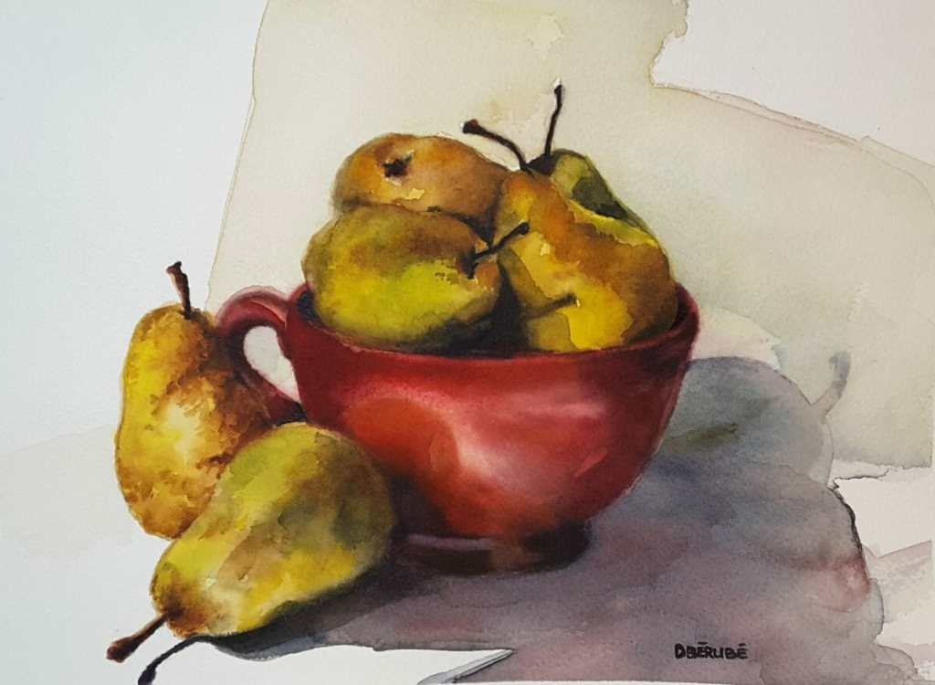 Still life, sur le motif, project: have to bring things in class and paint it ! Lots of fun! 11X12 2